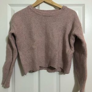 Pink Rebecca Minkoff Short Long Sleeve Sweater